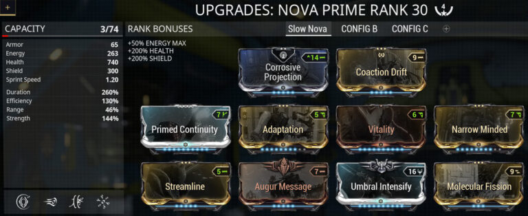 Warframe Nova Null Star Build – Click any maximized link to learn how to build it.