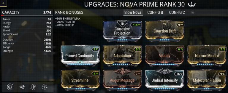 Warframe Nova Null Star Build – Click any maximized link to learn how to build it.